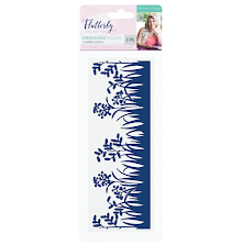 Sara Davies Flutterby 8x3 Embossing Folder - Summer Sprigs