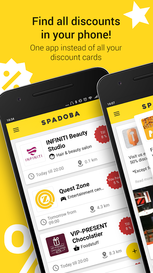Spadoba: discounts and bonuses- screenshot
