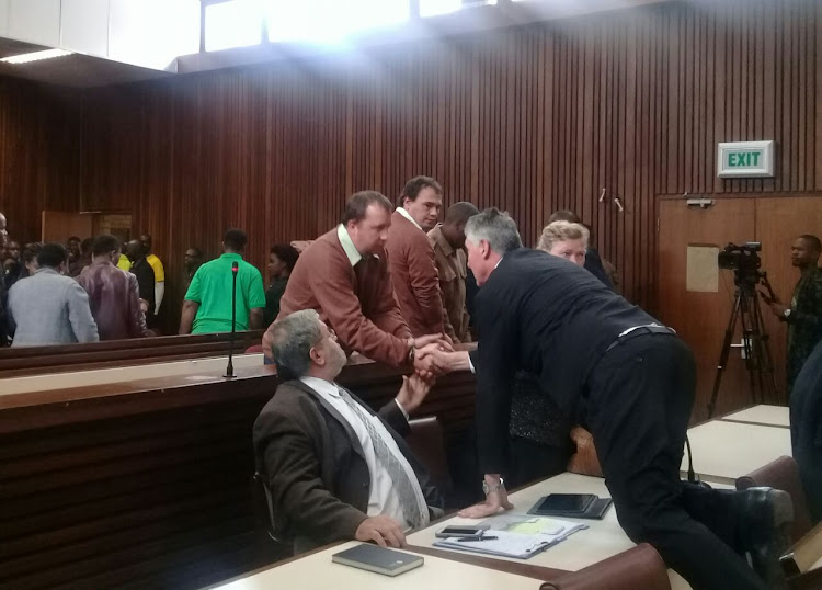 Coffin assault duo, Theo Jackson and Willem Oosthuizen head back to prison.