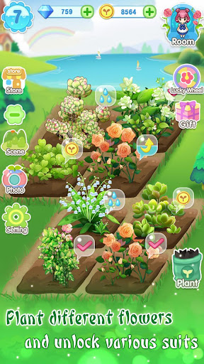 ud83dudc57ud83dudc52Garden & Dressup - Flower Princess Fairytale modavailable screenshots 4