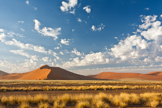 Photo: Huge dunes on the drive in to Sossusvlei, Namibia.