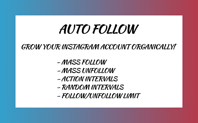 Auto Follow For Instagram