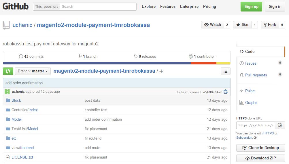Payment Tmrobokassa Magento 2 extension