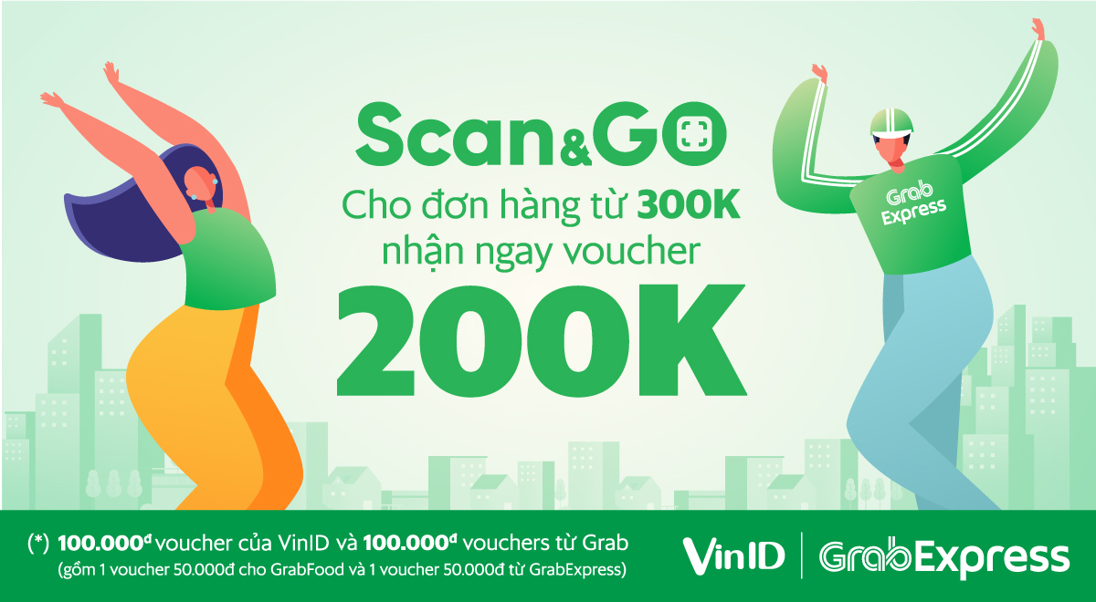 GRAB Express bắt tay VinMart với dịch vụ Scan&Go 2