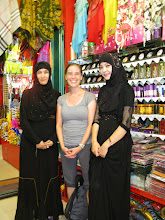 Photo: Naheya bought some hair dye from these two Uighur women, and they let me take a picture with them. They were very sweet!