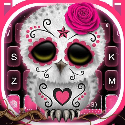 Sugar Skull Owl Keyboard Theme Icon
