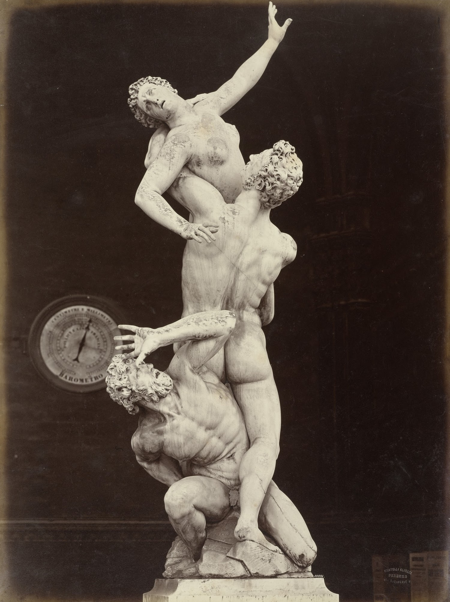 Leopoldo and Guiseppe Alinari, The Rape of the Sabines by Giovanni Bologna, Loggia Dei Lanzi, Florence c. 1865