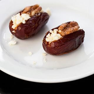 Medjool Dates with Goat Capricho and Walnuts Recipe