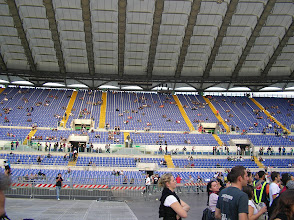 Photo: The beautiful Stadio Olimpico - a 72.000 seater.
