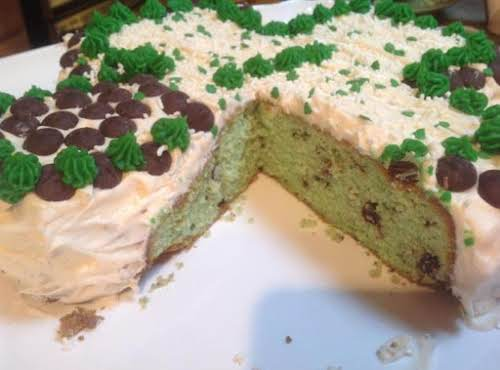 "Peppermint Shamrock Supreme Pound Cake ""My husband said it was very good,..."