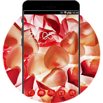 Flower Theme: Aroma of Peach Petal Wallpaper Icon
