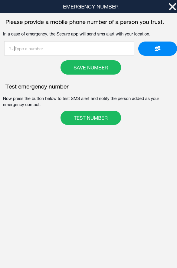 Secure app- screenshot