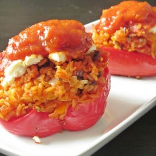 Tomato and Goat Cheese Stuffed Peppers