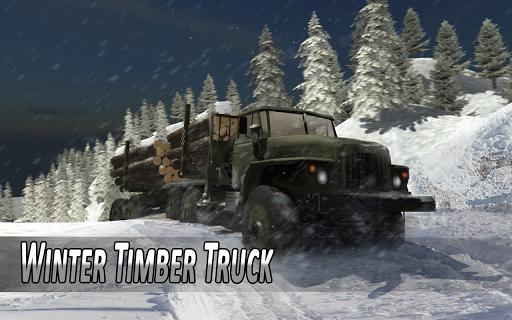 Winter Timber Truck Simulator apkmr screenshots 1