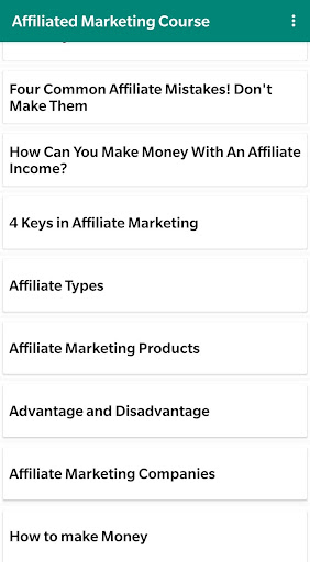 Affiliate Marketing Course : Marketing Affiliate screenshots 1