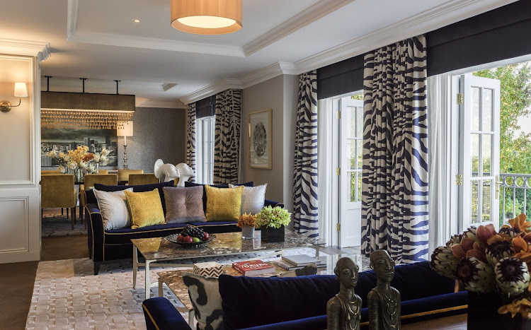 The Westcliff's Royal Suite has touches of African chic.