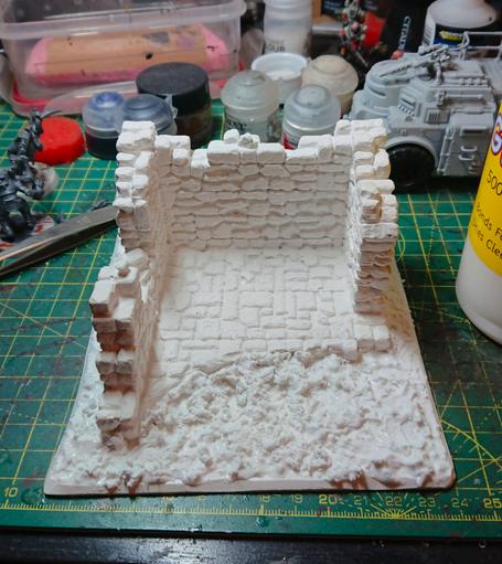 A single plaster ruin mounted on 3mm foamex board