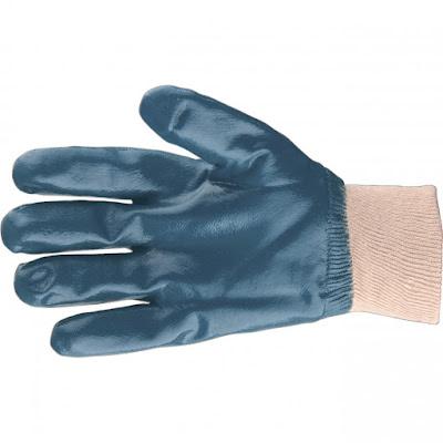 Перчатки трикотажные Сибртех с обливом из бутадиен-нитрильного каучука, манжет, M