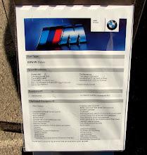Photo: Había exposición de BMW's, aquí las características del M6. IM-PRESIONANTE.