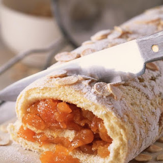 Almond and Apricot Roulade.