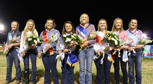 The Narrabri Show was officially opened on Friday night with the announcement of the Senior and Junior Showgirls for 2017. Libby Baguley, fourth from left, was crowned Senior Showgirl, while Mayah Bourke-Tindal fifth from left, won the Junior honour. Pictured with them are fellow contestants Sara Charles (Junior and Showgirls' Choice Award winner), Emily Fielder (Senior), Gabby Fish (Junior runner-up), Ashleigh Dunn (senior runner-up), Clariese Ryman (Junior) and Grace Hardman (Junior).