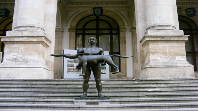 Statue in front of National History Museum Bucharest