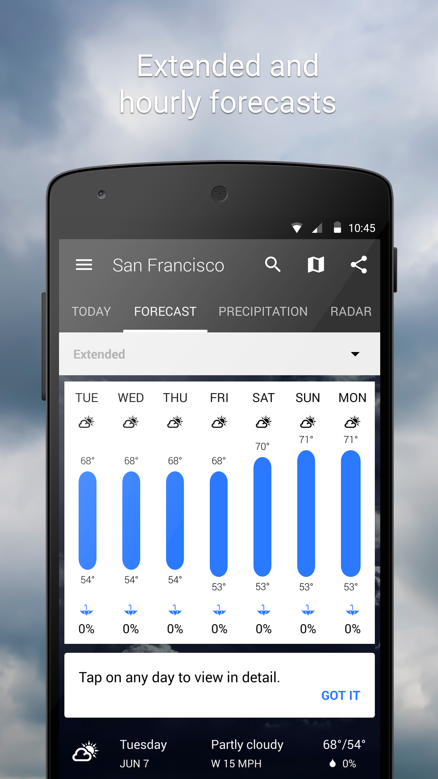 1Weather:Widget Forecast Radar screenshot #4