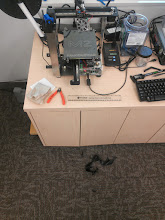 Photo: That print was on the bed when we left, what is it doing on the floor?