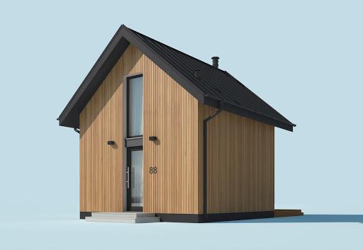 projekt Lido 2 A dom letniskowy na zgłoszenie do 35m2