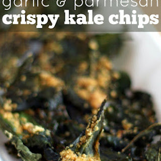 Crispy Kale Chips with Garlic & Parmesan.