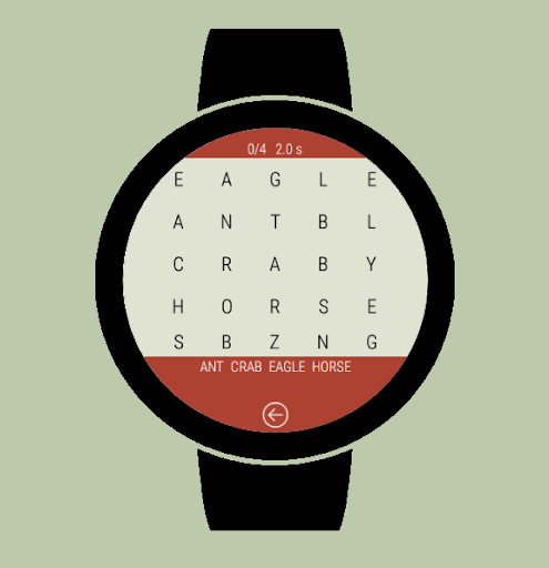 Word Search Wear - Find words on the watch