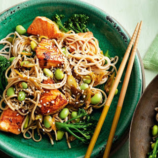 Salmon, Ginger And Soba Noodle Stir-fry.