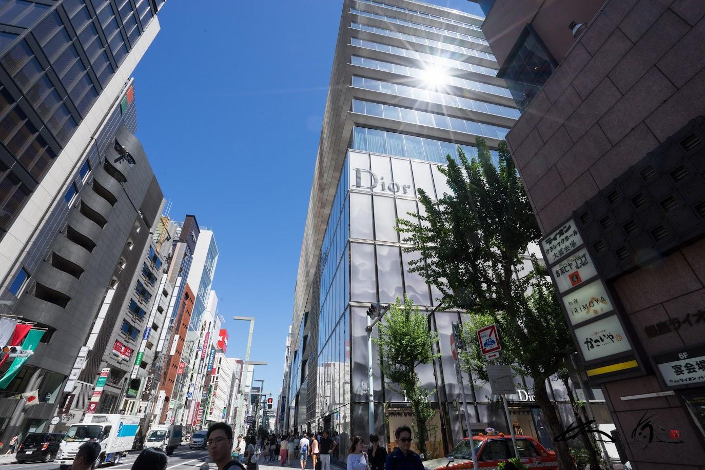 銀座6丁目(東京都銀座・撮影:2017年9月18日)