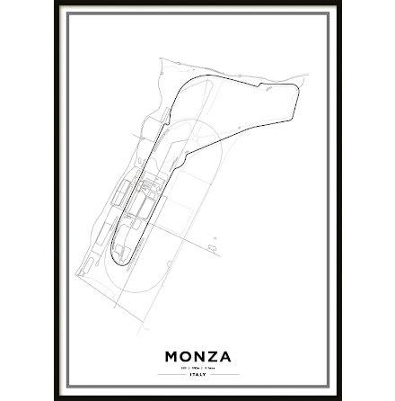 Poster, Autodromo Nazionale Monza F1 print vit