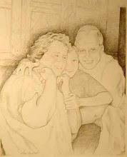 Photo: Family Portrait . graphite . 16 x 18