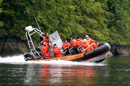 Victoria-BC-Clayoquot-Whale.jpg - Suit up for whale watching on Clayoquot Sound near Victoria, British Columbia.
