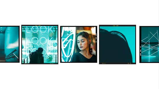 Triple Look Frame - YouTube Channel Art Template