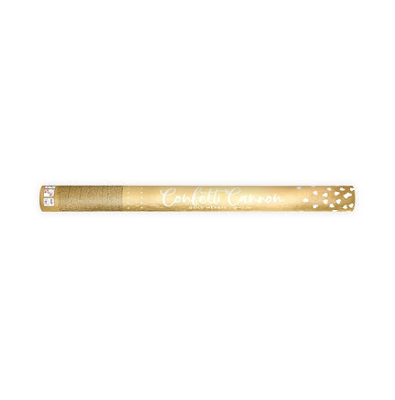 Konfettikanon hjärtan guld, 60 cm