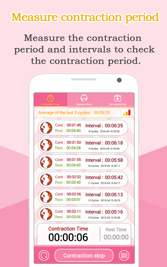 Contraction Timer (Labor)- screenshot