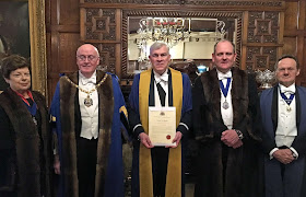 Officers and New Liveryman Bill Boswell