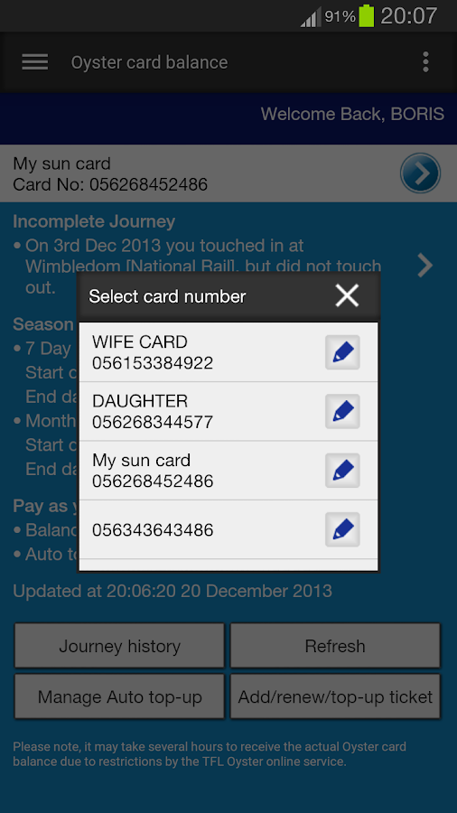 London Oyster Contactless +- screenshot