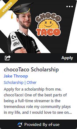 chocoTaco Scholarship