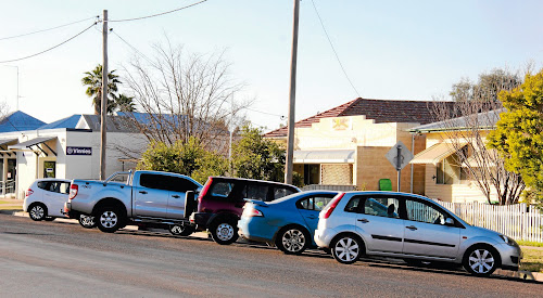 Angle parking is likely to be removed from this section of Barwan Street in Narrabri.