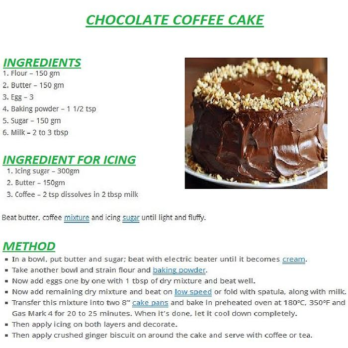 chocolate cake english recipes android apps on google play