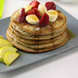 Healthy Strawberry Oat Pancakes  Recipe