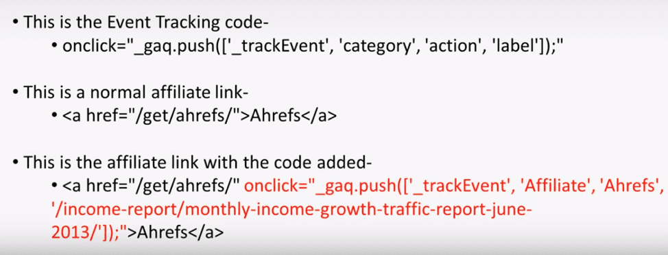 Google tracking code snippet