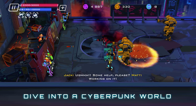 Uprising: Cyberpunk 3D Action Game Screenshot 2