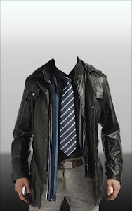 Men Leather Jacket Photo Suit screenshot 8