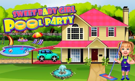 Sweet Baby Girl Pool Party Games: Summer Pool Fun 1 16