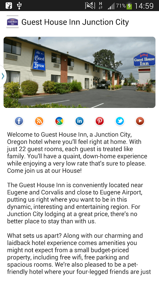 Guest House Inn Junction City- screenshot